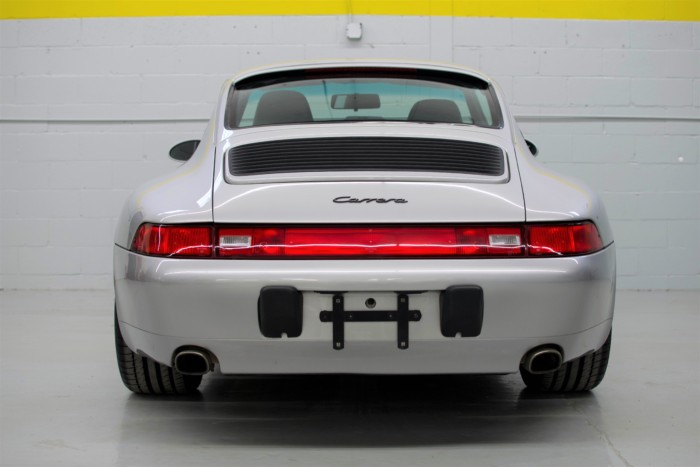 Porsche Back View Straight Angle