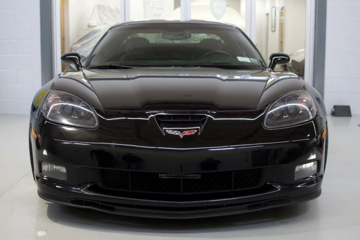 Corvette Z06 Black Front View High