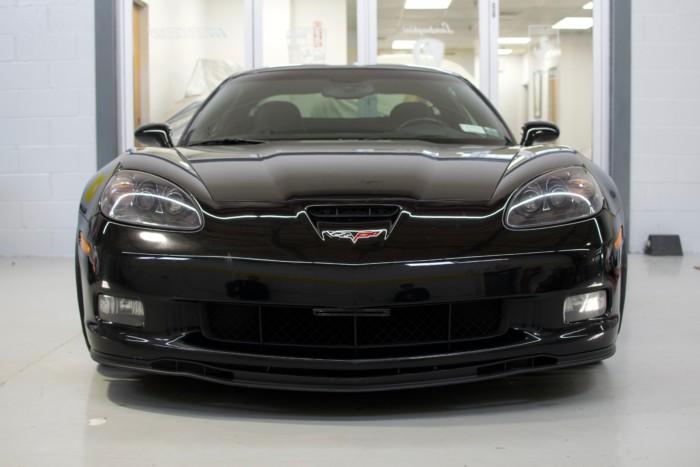 Corvette Z06 Black Front View Low