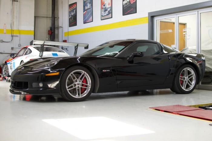 Corvette Z06 Black Front View