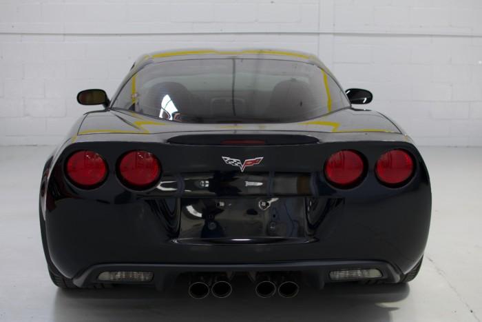 Corvette Z06 Black Back View Low