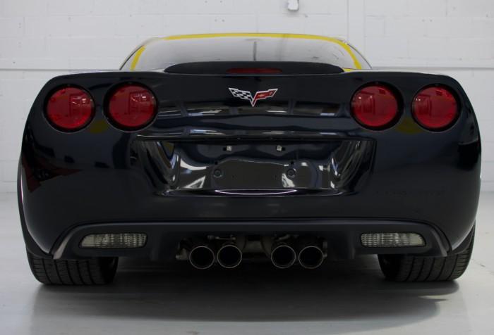 Corvette Z06 Black Back View High